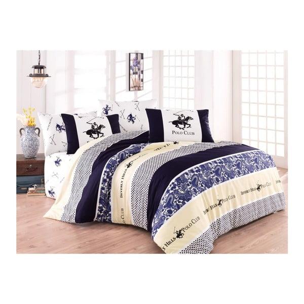 Lenjerie de pat cu cearșaf BHPC Abbie, 200 x 220 cm