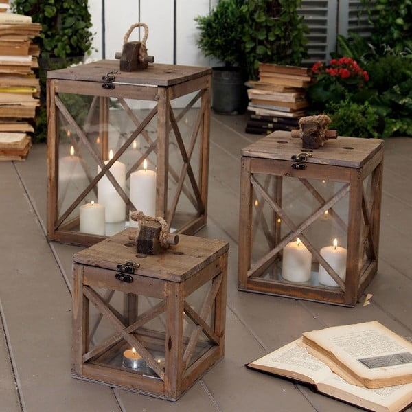 Set luceren Wood Neapol, 3 ks