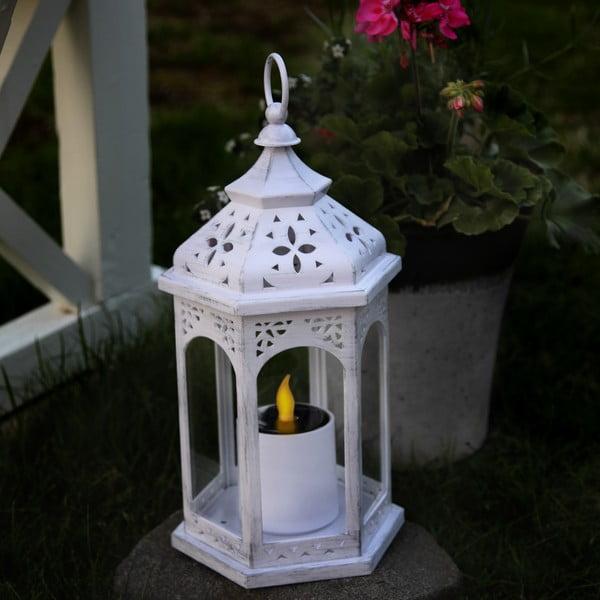 LED lucerna Candle, bílá