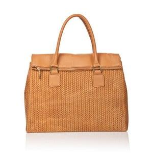 Kožená kabelka Mabel, oranžová