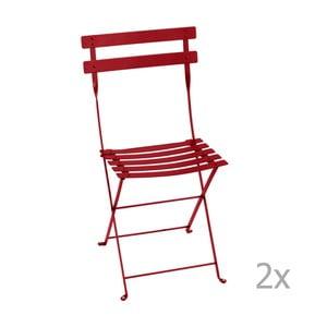 Set 2 scaune grădină pliabile Fermob Bistro, roșu