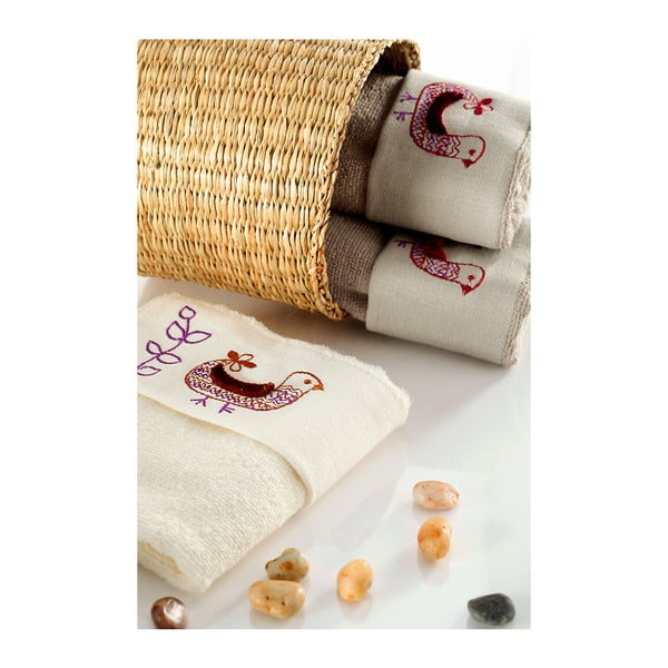 Sada 3 ručníků Sarev V1, 30x50 cm