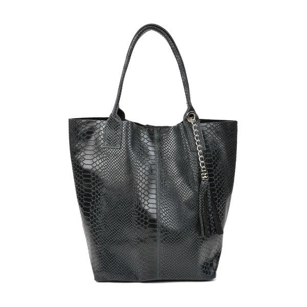 Černá dámská kožená kabelka Renata Corsi Michela