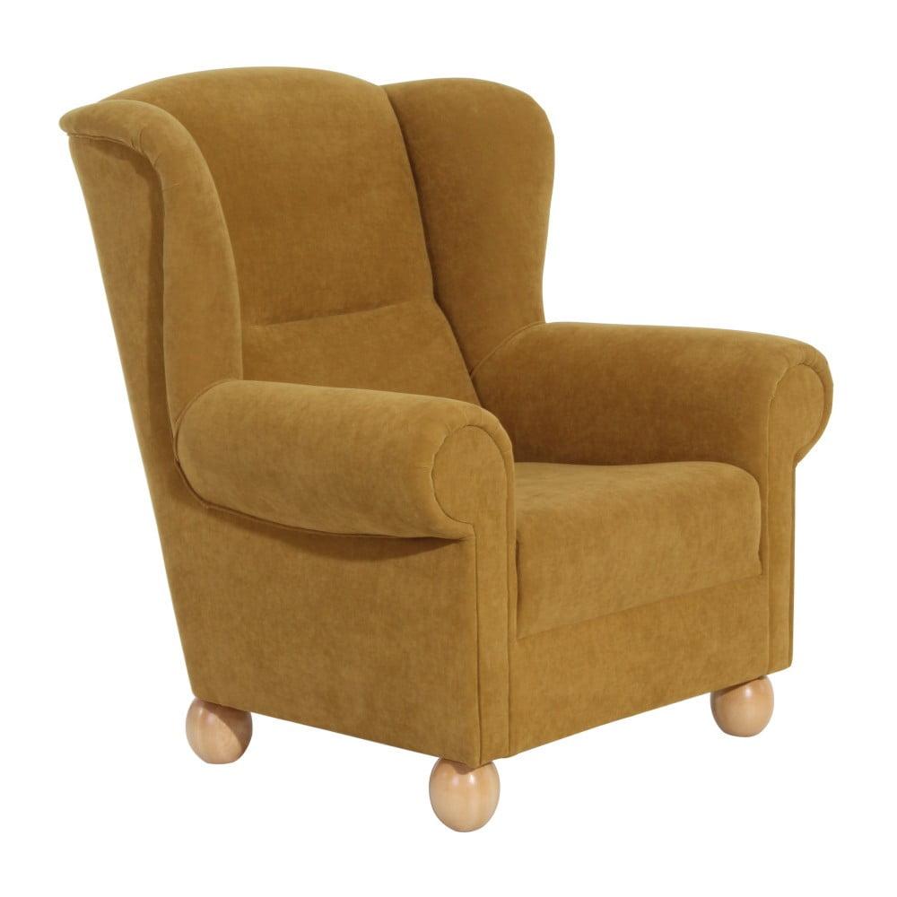 fotoliu max winzer monarch velor galben bonami. Black Bedroom Furniture Sets. Home Design Ideas
