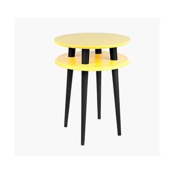 Măsuță cu picioare negre Ragaba UFO, Ø 45 cm, galben de la Ragaba