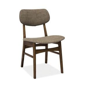 Židle Donat, ořech/šedá