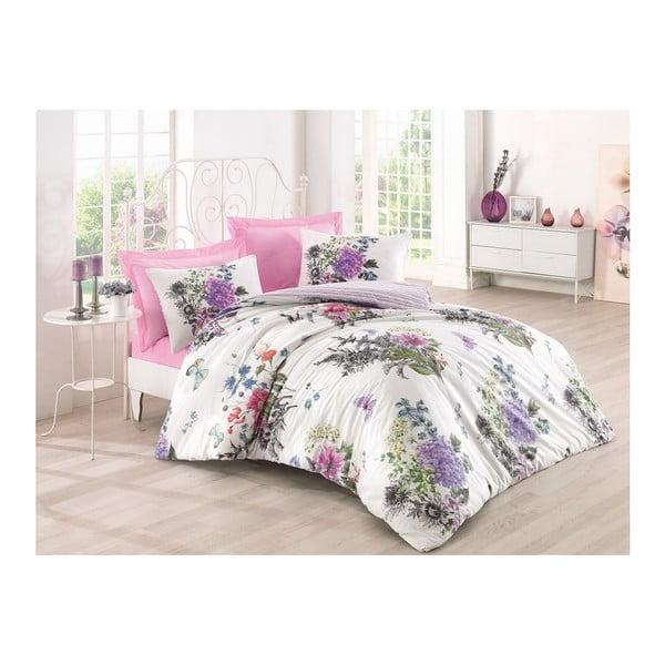 Lenjerie de pat cu cearșaf Stella Ella, 200 x 220 cm