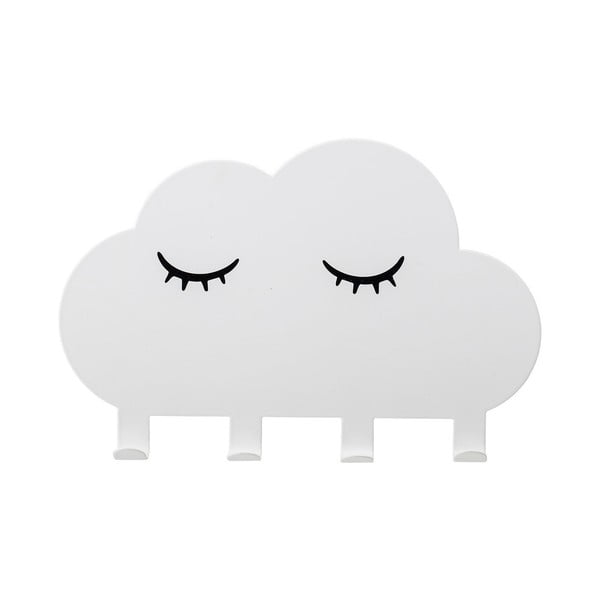 Detský biely nástenný vešiak Bloomingville Cloud