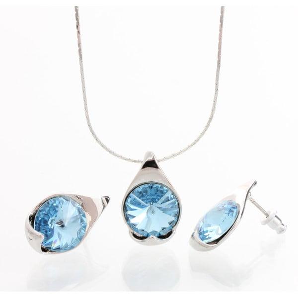 Set náhrdelníku a náušnic Laura Bruni Baby Blue