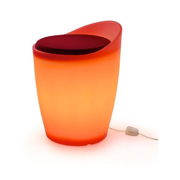 Světelná stolička Otto, oranžová