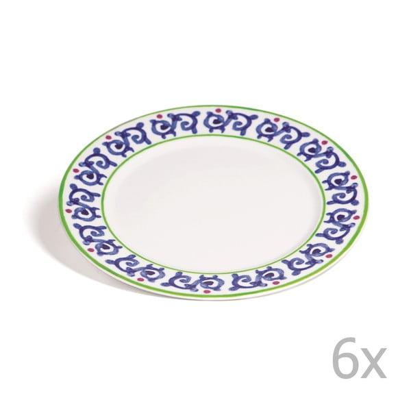 Sada 6 talířů Toscana Gimignano, 27 cm