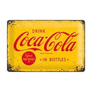 Plechová cedule Drink Coca Cola in Bottles