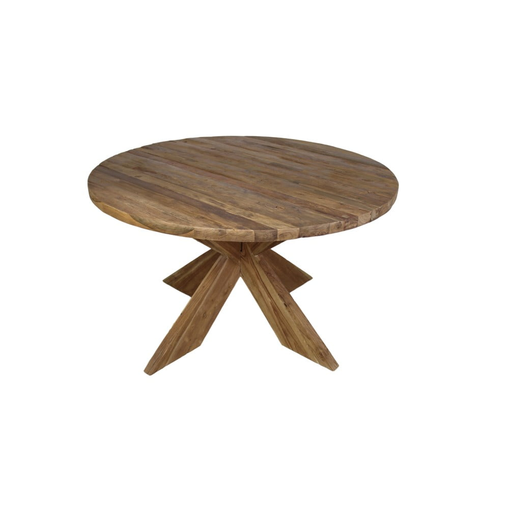 Jídelní stůl z teakového dřeva HSM Collection Erosie, průměr 130 cm