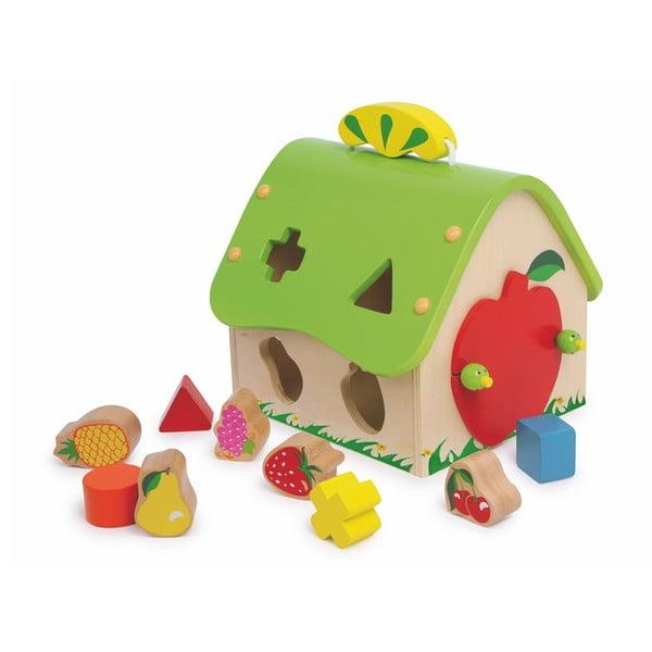 Jucărie motrică din lemn Legler Fruit House