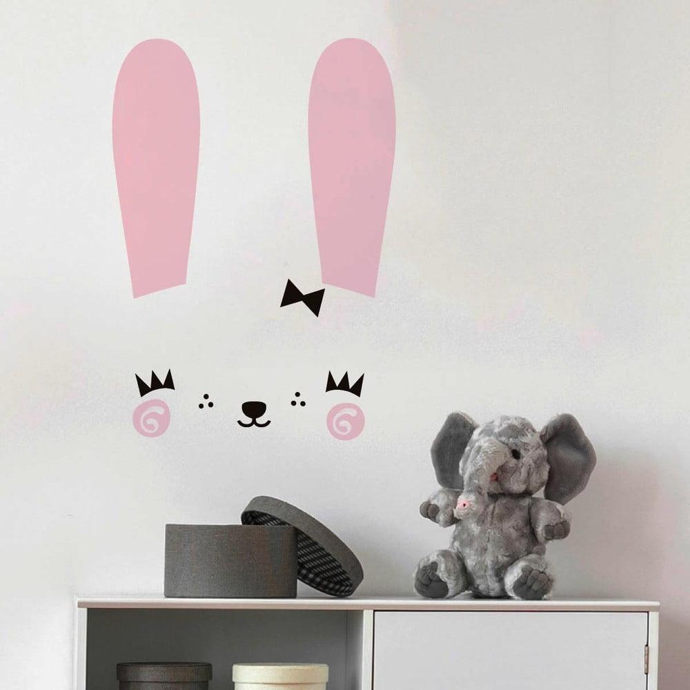 Produktové foto Sada samolepek na zeď Ambiance Cute Bunny
