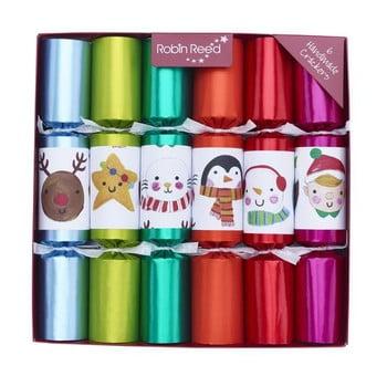 Set 6 pocnitori de Crăciun Robin Reed Multi Colour Characters imagine