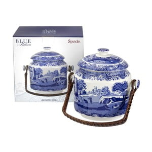 Bílomodrá porcelánová dóza na sušenky Spode Blue Italian