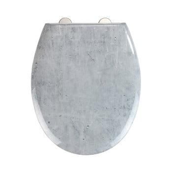 Capac WC cu închidere lentă Wenko Easy Concrete, 44,5 x 37 cm imagine