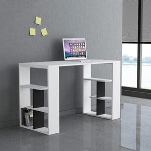 Černobílý pracovní stůl Homitis Alexis