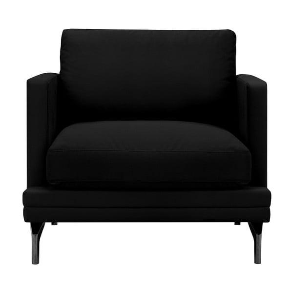 Černé křeslo s podnožím v černé barvě Windsor & Co Sofas Jupiter