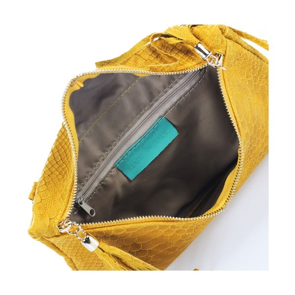 Kožená kabelka Italia  808 Giallo