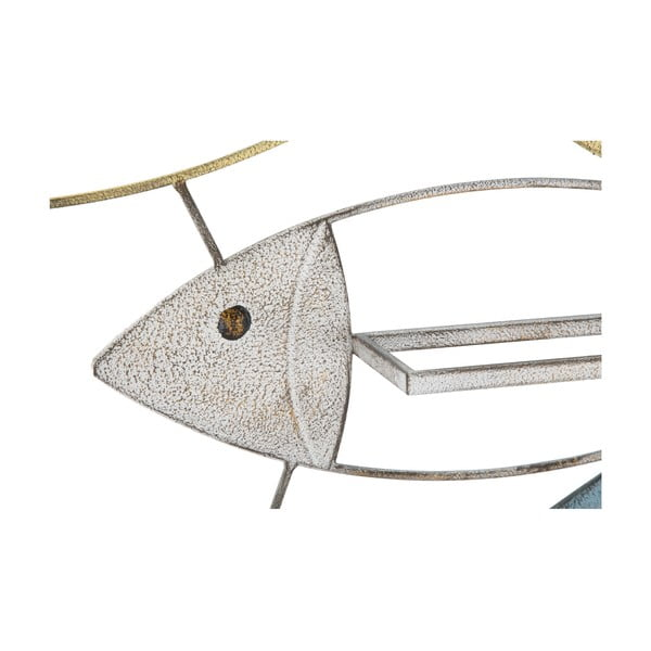 Nástěnný držák na lahve Mauro Ferretti Fish, 103,5x62cm