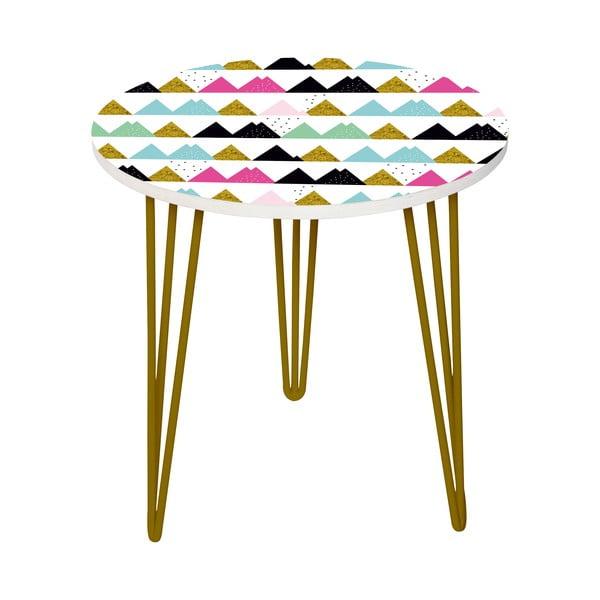 Sada 2 odkládacích stolků Triangle Pastel, 35 cm + 49 cm