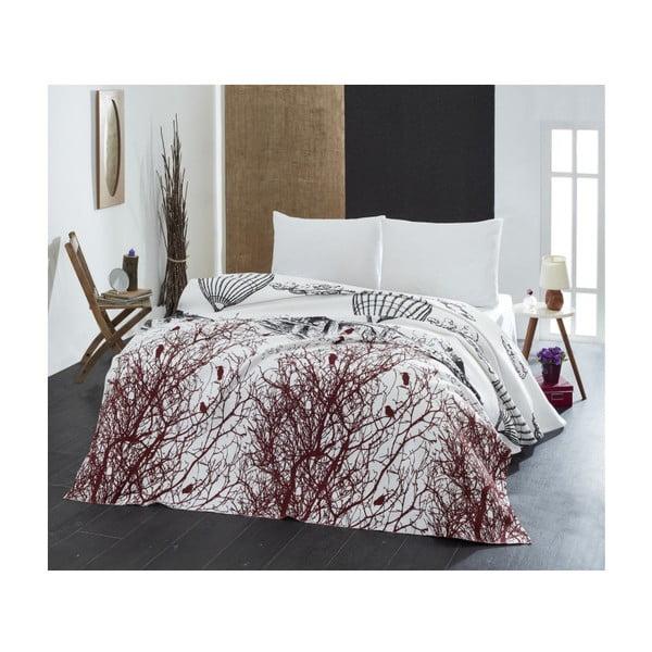 Cuvertură subțire de pat White Double, 200 x 235 cm