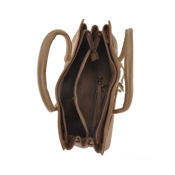 Hnědá kožená kabelka Florence Gallina
