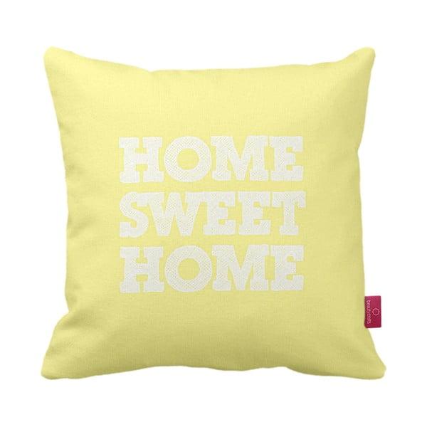 Žlutobílý polštář Home Yellow, 43x43cm