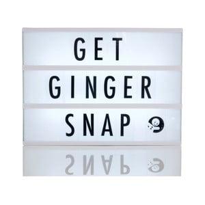 Světelný box s 85 znaky Gingersnap A4