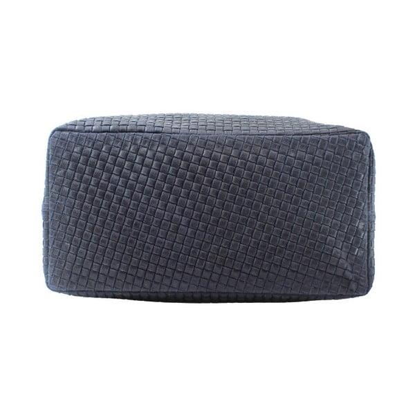 Tmavě modrá kožená kabelka Chicca Borse Tessa
