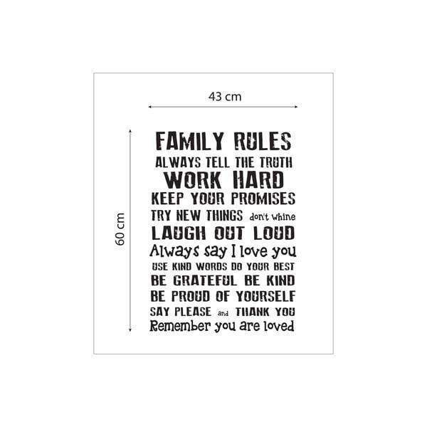 Vinylová samolepka na stěnu Really Nice Things Family Rules