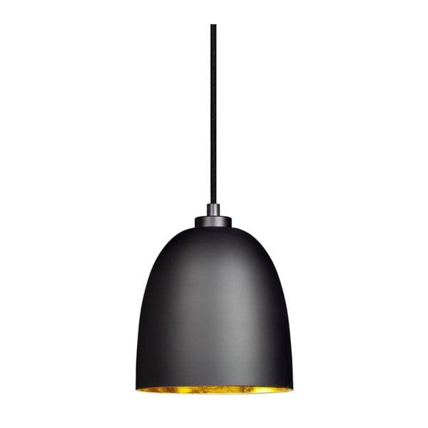 Černé matné závěsné svítidlo s vnitřkem ve zlaté barvě Sotto Luce Awa