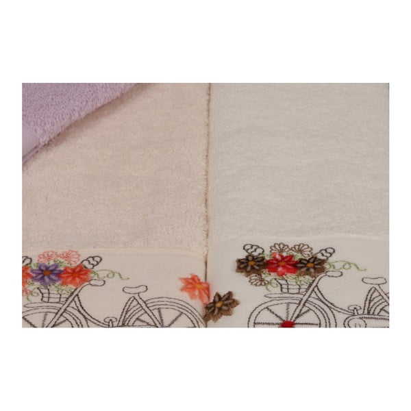 Sada 6 barevných ručníků z čisté bavlny Madame Coco Blueberry, 30 x 50 cm