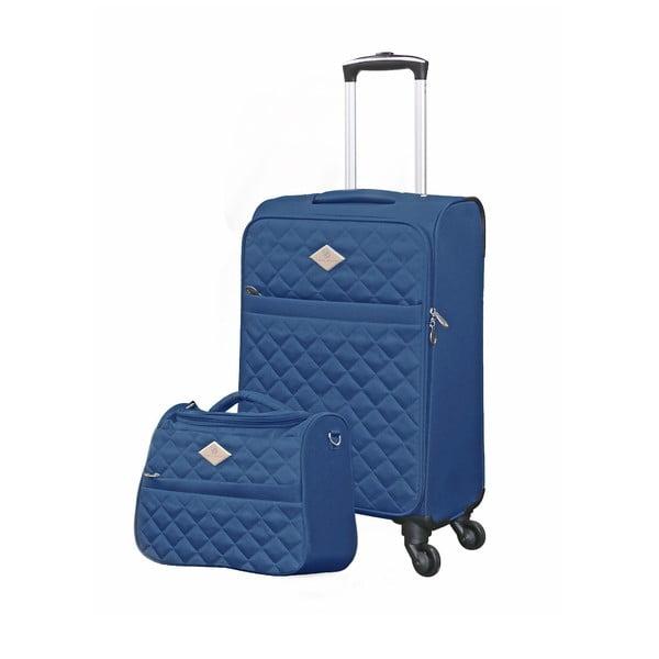 Set troler și geantă pentru cosmetice GERARD PASQUIER Adventure, albastru