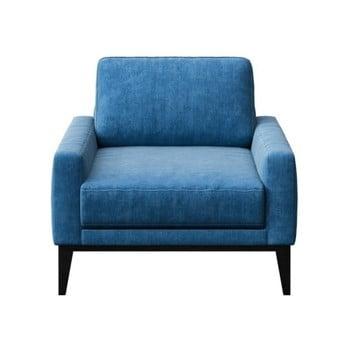 Fotoliu cu picioare din lemn MESONICA Musso Regular, albastru imagine