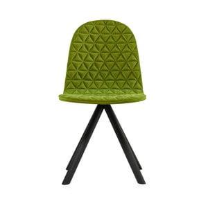 Zelená židle s černými nohami Iker Mannequin Triangle