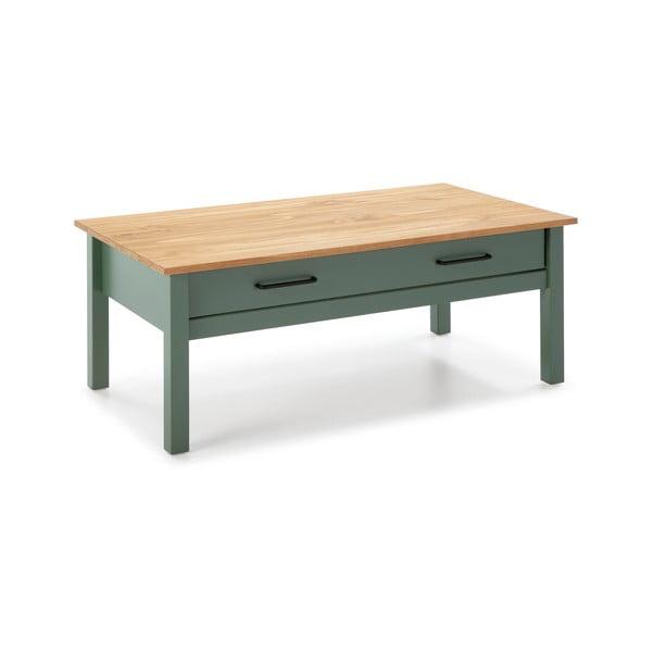 Zielony drewniany stolik Marckeric Miranda