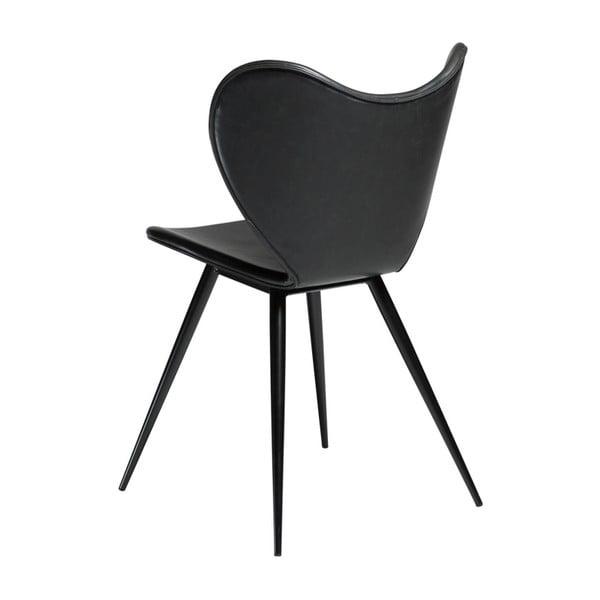Černá koženková židle DAN-FORM Denmark Dreamer