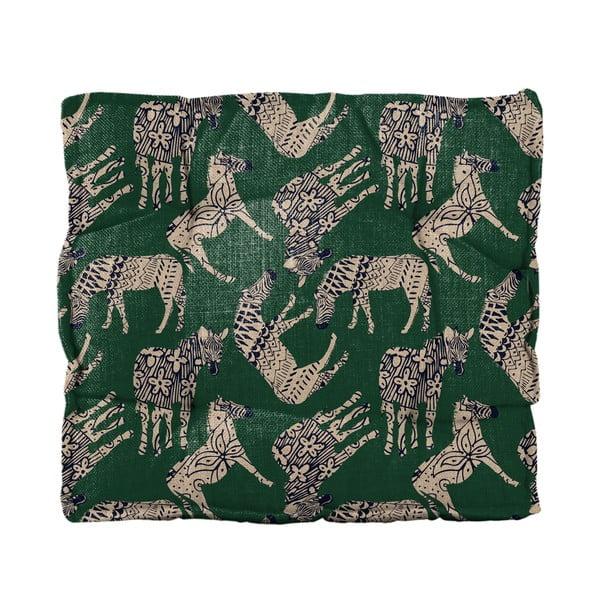 Pernă scaun Linen Couture Square Zebras, 37 x 37 cm