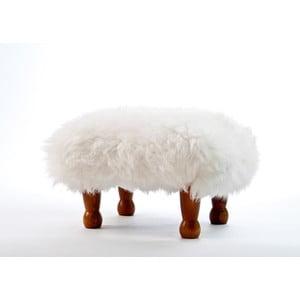 Stolička z ovčí kůže Anwen Ivory