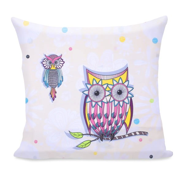 Owls Summerstory mikroszálas párnahuzat, 80 x 80 cm - DecoKing