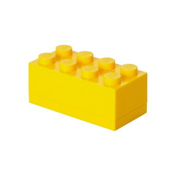 Cutie depozitare LEGO® Mini Box Yellow Lungo, galben imagine