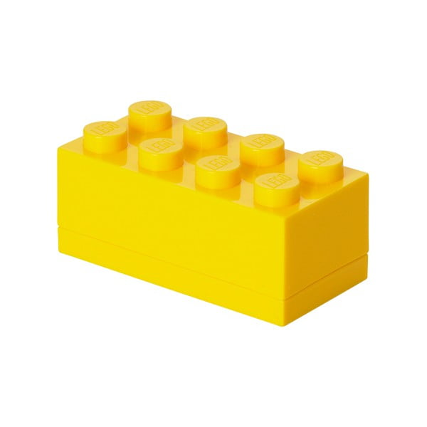 Cutie depozitare LEGO® Mini Box Yellow Lungo, galben