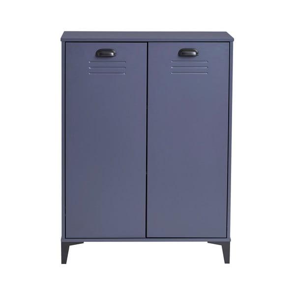 Modrá komoda Marckeric Zack, 75 x 100 cm