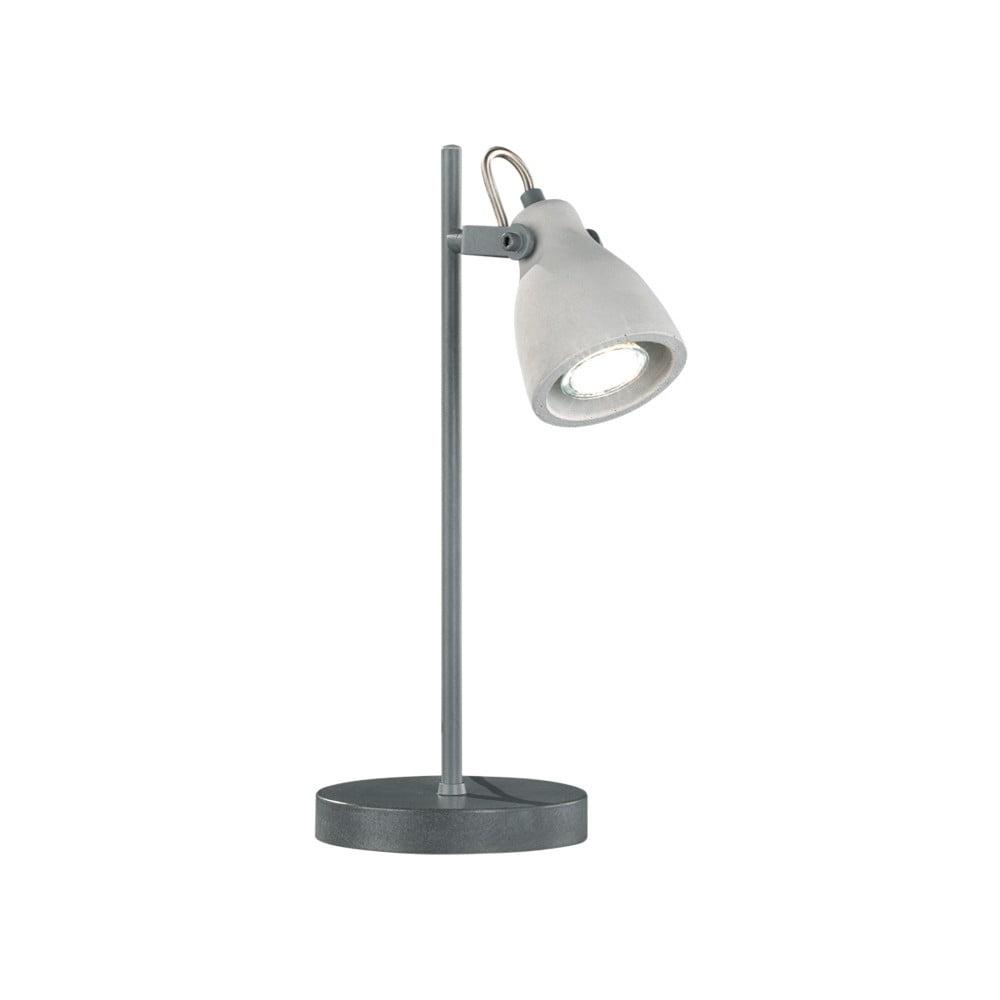 Produktové foto Šedá stolní lampa Trio Concrete, výška 38 cm