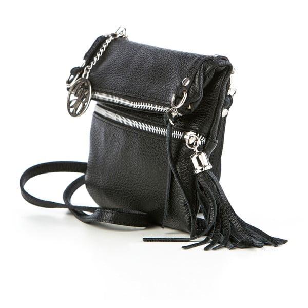 Kožená kabelka Roberto, černá