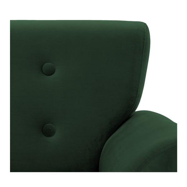 Tmavě zelené křeslo Vivonita Kiara