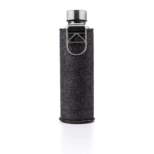 Sklenená fľaša z borosilikátového skla s plsteným obalom Equa Mismatch Silver, 750 ml